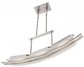 """Trax Brushed Nickel Frost Glass LED Island Light 36""""W"""