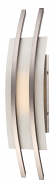 "Trax Nickel Frost Glass LED Wall Sconce Light 7""Wx20""H"