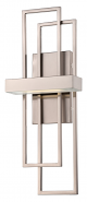 """Frames Nickel LED Wall Sconce Light 8""""Wx20""""H"""