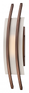 "Trax Bronze Frost Glass LED Wall Sconce Light 7""Wx20""H"