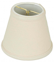 "Linen Chandelier Lamp Shade Cream, White, Beige 5""W"
