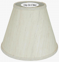 "Linen Brown Flecks Chandelier Shade 4-6""W"