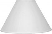 "Linen Coolie Lamp Shade Cream or White 15-24""W"