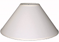 "Coolie Linen Fabric Lamp Shade Cream or White 16-24""W"