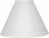 "White Linen Lamp Shade 15""W - Sale !"