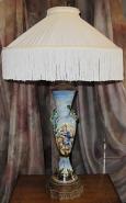 "Snake & Maiden Antique Art Deco Lamp 30""H SOLD"