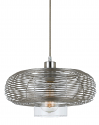 "Wilshire Brushed Steel & Glass Pendant Light 13""W - Sale !"