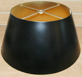 "Black Bouillotte Metal Lamp Shade 14-19""W"