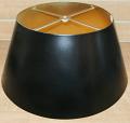 """Black Bouillotte Metal Lamp Shade 14-19""""W"""