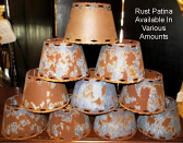 "Metal Chandelier Lamp Shade Rust Patina 4-6""W"