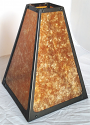 "Square Riveted Dirk Van Erp Mica Lamp Shade 12.5""W - Sale !"