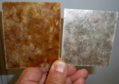 Mica Color Samples - Left= Amber, Right= Silver