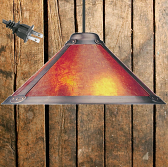 "Dirk Van Erp Mica Pendant Light 18.5""W - Sale !"