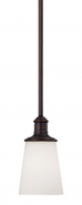 "Cimmaron Dark Bronze White Glass Mini Pendant Light 5""Wx47""H"