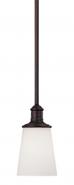 "Cimmaron Dark Bronze White Glass Mini Pendant Light 5""Wx47""H"