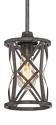 "Lakewood Antique Silver Iron Bar Light 6""Wx51""H"