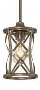 "Lakewood Vintage Gold Iron Mini Pendant Light 6""Wx51""H"