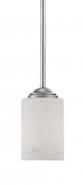 """Lansing Brushed Pewter White Drum Glass Mini Pendant Light 4""""Wx45""""H"""