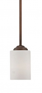 "Lansing Rubbed Bronze White Drum Glass Mini Pendant Light 4""Wx45""H"