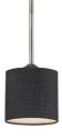 "Jackson Black Drum Pendant Light 6""Wx46""H"