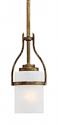 "Benton Vintage Gold Drum Glass Bar Light 5""Wx51""H"