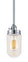 "Neo Industrial Chrome Mini Bar Light Clear Glass 4.5""Wx45""H"