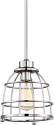 "Maxx Polished Nickel Wire Cage Industrial Pendant Light 8""W - Sale !"