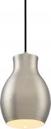 "Vessel LED Brushed Nickel Mini Pendant Light White Accent 6""Wx8""H"
