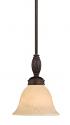 "Alma Bronze & Gold Scavo Glass Bar Light 7""Wx50""H"