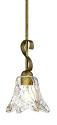 "Chatsworth Vintage Gold Swirl Glass Mini Pendant Light 5""Wx46""H"