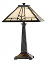 "Bronze Cast Iron Square Ivory Mission Tiffany Table Lamp 24""H - Sale !"