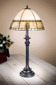 "Apricot Flaxen Dome Mission Tiffany Table Lamp 30""H"