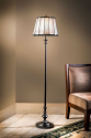 "Twilight Drum Shade Mission Tiffany Floor Lamp 62""H"