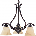 "Anastasia ORB Bronze Chandelier Glass Shades 23""Wx21""H"