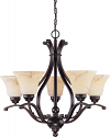 "Anastasia ORB Bronze Chandelier Glass Shades 24""Wx25""H"
