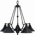 "Bridgeview ORB Bronze Chandelier Metal Shades 30""Wx27""H"