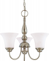 "Dupont Brushed Nickel Chandelier Glass Shades 17""Wx13""H"