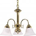 "Ballerina Polished Brass Down Light Chandelier Glass Shades 20""Wx17""H"