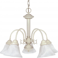 "Ballerina White Down Light Chandelier Glass Shades 24""Wx18""H"