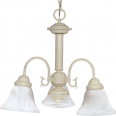 "Ballerina White Down Light Chandelier Glass Shades 20""Wx17""H"