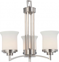 "Harmony Brushed Nickel Drum Shade Chandelier 20""Wx20""H"