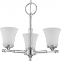 "Teller Polished Chrome Chandelier White Glass 20""Wx18""H"
