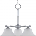 "Teller Polished Chrome Chandelier White Glass 24""Wx21""H"