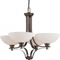 """Bentley ORB Bronze Chandelier Frosted Glass Shades 28""""Wx23""""H"""