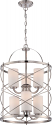 "Ginger Brushed Nickel Chandelier Glass Shades 16""Wx25""H"
