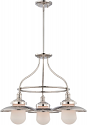 "Bayport Polished Nickel Opal Glass Chandelier 26""Wx59""H"