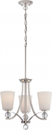 "Connie Polished Nickel Chandelier White Glass 18""Wx29""H"