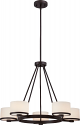 "Celine ORB Bronze Drum Shade Chandelier 27""Wx58""H"