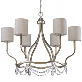 "Margaret Washed Gold & Crystal Chandelier 30""Wx24""H"