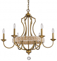 "Ava Modern Raw Brass Crystal Chandelier 30""Wx28""H"